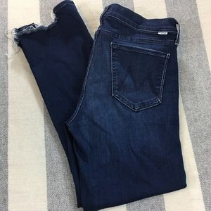 MOTHER The Rascal Ankle Chew High Waisted Jeans